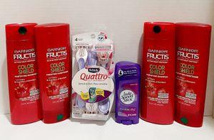 Brand New Garnier Fructis Color Shield Hygiene Body Care Bundle for Sale in Visalia, CA