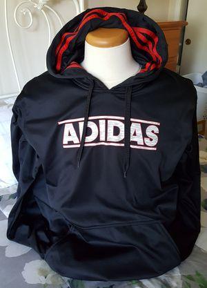 Adidas Hoodie Men's 2XL Black/Red Long Sleeve Pull Over Sweatshirt for Sale in Santa Clarita, CA