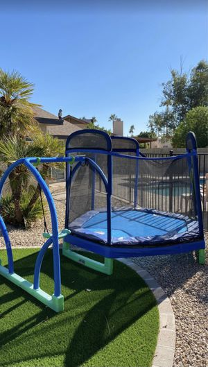 My First Jump 7' Trampoline And Swing for Sale in Scottsdale, AZ