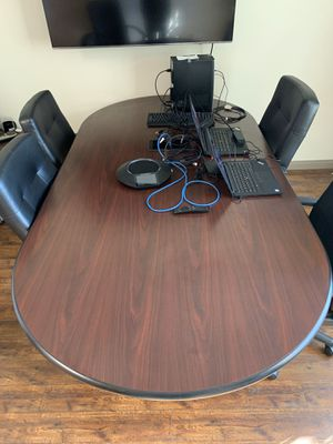 Office Conference Room Table and Chairs for Sale in Jurupa Valley, CA