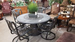 Beautiful patio table w/4 chairs 🦃We are located at 2811 E. Bell Rd.  We are Another Time Around Furniture for Sale in Phoenix, AZ