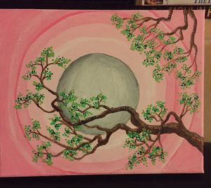 8x10 tree branches painting for Sale in Rancho Cucamonga, CA