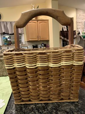 Wooden woven magazine rack for Sale in Washington, PA