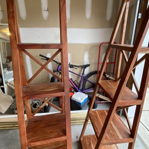 Wood Book Shelves for Sale in Raleigh, NC