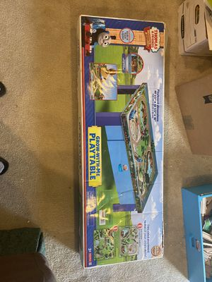 Thomas and friends play table with train tracks and trains for Sale in North Wales, PA