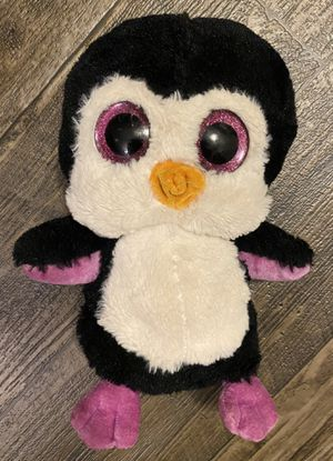 "Ty Beanie Boos Paddles The Penguin Pink 10"" Stuffed Animal Plush Toy for Sale in Chapel Hill, NC"