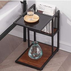 2 Tier End Table Nightstand Table with Magazine Rack for Sale in Los Angeles,  CA