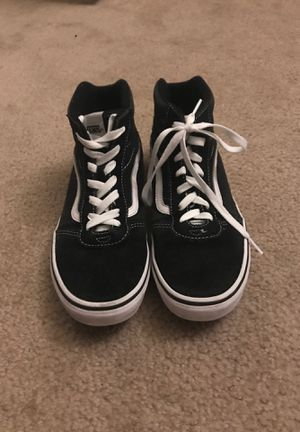 Size 7 black and white vans for Sale in San Ramon, CA