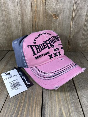 New True Religion Pink Distressed Womens Strapback Baseball Hat Cap for Sale in Las Vegas, NV