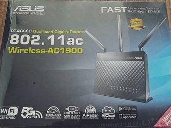 New Sealed Asus AC1900 Dual-band Gigabit Router RT-AC68U for Sale in Rancho Santa Margarita,  CA