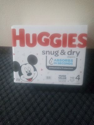 Unopened Box Huggies Snug And Dry for Sale in Stanton, CA