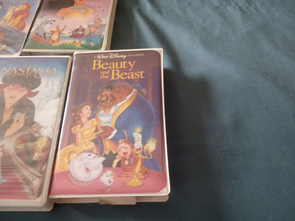 Black Diamond Beauty and the Beast. vhs tape with Walt Disney Classic Collection. 11 total Rare