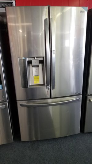 New scratch and dent LG grab-n-go French door refrigerator stainless steel 1 year warranty for Sale in Saint Petersburg, FL