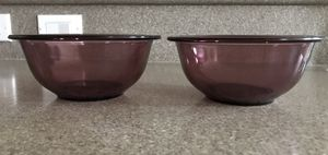 Set of Two Pyrex Bowls - Cranberry Color for Sale in Winchester, CA
