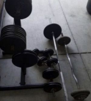 ALL IN 1• 200LBS STANDARD WEIGHTS, DUMBBELLS & BARSBUNDLE• BEST DEAL ON STANDARD for Sale in San Diego, CA