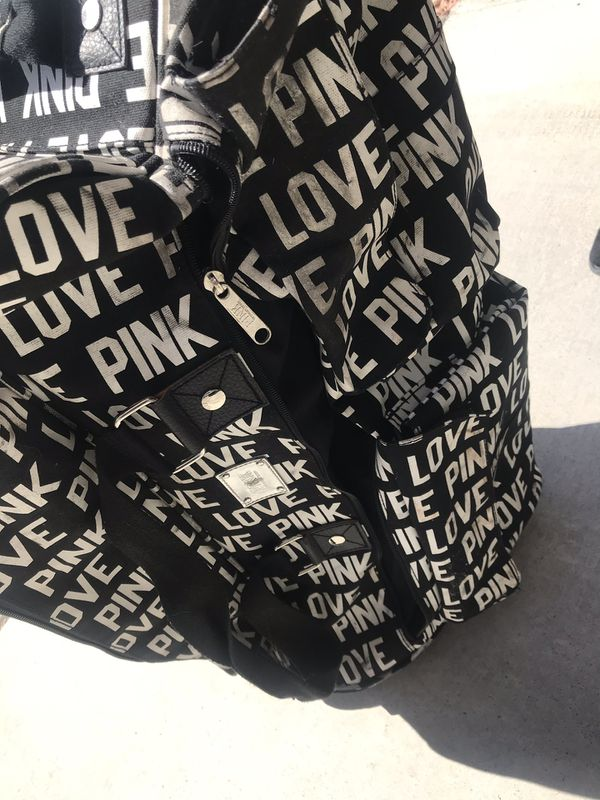 Victoria's Secret Pink rolling duffle bag