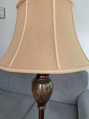 Beautiful floor lamp about 5 ft tall. Available if listed for Sale in Fairfax, VA