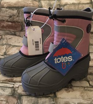 Girls Totes Winter Survivor Rain Snow Removable Lining Boots Sz 1 for Sale in Baltimore, MD