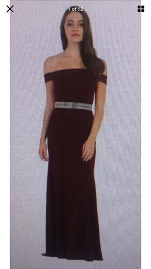 Cindy Collection Prom Dress, Evening Gown,Burgundy Bling Belt Large, Bridesmaid for Sale in Escondido, CA