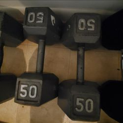 A Set Of 50 Pound Dumbells for Sale in Fairfax,  VA