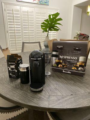 Nespresso VertuoPlus Coffee and Espresso Maker by Breville with Aeroccino, Black for Sale in Phoenix, AZ