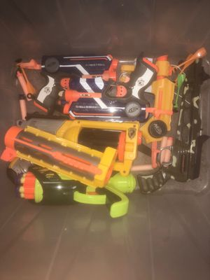 Nerf Gun Crate (6 Guns) for Sale in Silver Spring, MD