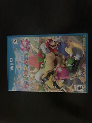 Wii U Mario party 10 for Sale in St. Petersburg, FL