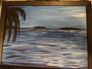 Beach at night painting for Sale in Seffner, FL