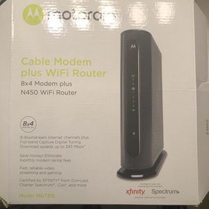 Cable Modem and Wifi Router for Sale in Tampa, FL
