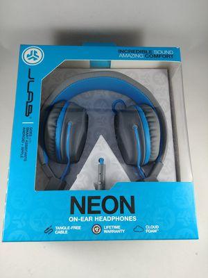 JLab Neon Headphones - Blue 35mm jack for Sale in Federal Way, WA