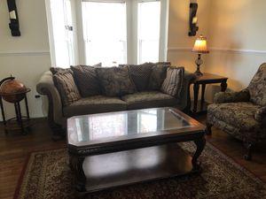 Living Room Set - Wood accents for Sale in Woodbridge, VA