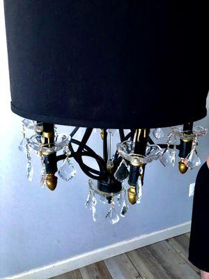 Black Drum Shade Chandelier w/Crystal Prisms for Sale in Woodbridge, VA