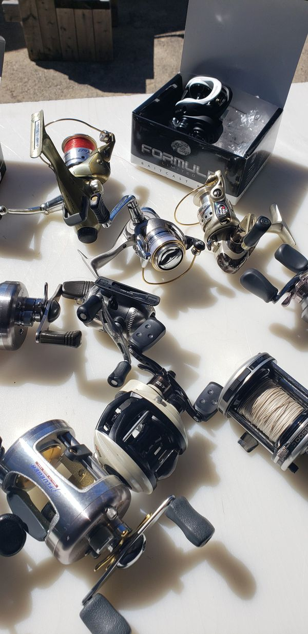 Casting and spinning fishing reels