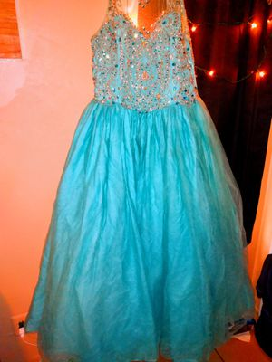 Teal blue quinceanera dress for Sale in Bakersfield, CA