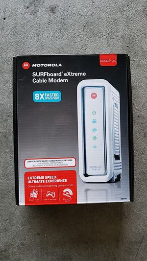 motorola surfboard extreme cable modem docsis 3.0 for Sale in El Cerrito, CA