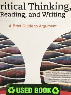 Critical Thinking, Reading, and Writing Ninth Edition for Sale in Kittanning,  PA