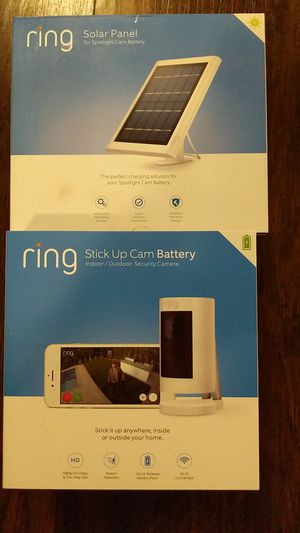 Ring Stick Up Cam and Solar Panel for Sale in Riverside, CA