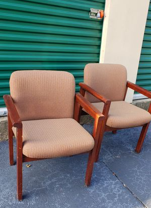 2 Brown cloth office chairs** for Sale in Austell, GA