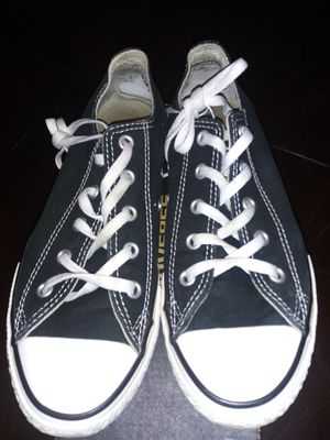 Converse black shoes used excellent condition size 3 asking $15 for Sale in Riverside, CA