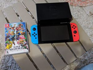 Nintendo Switch with Super Smash Bros included for Sale in Santa Ana, CA