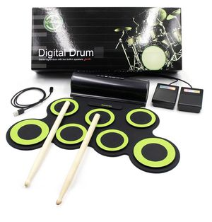 Paxcess Electronic Drum Set Roll Up Drum Practice Pad Midi Drum Kit for Sale in Los Angeles, CA