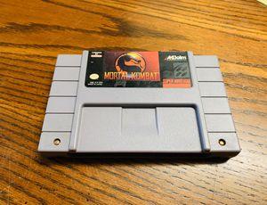 Mortal Kombat (Super Nintendo) for Sale in Stockton, CA