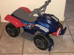 6V Marvel Captain America Toddler Quad for Sale in Las Vegas, NV