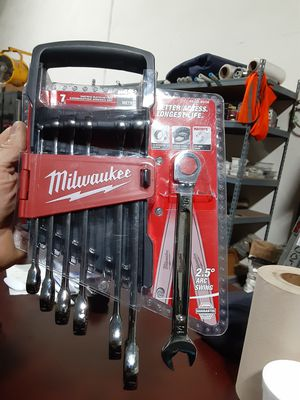MILWAUKEE 7pc Metric Ratcheting Wrench Set for Sale in South Gate, CA