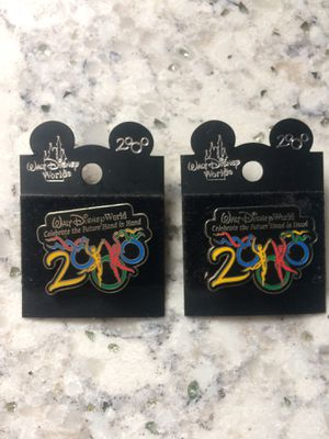 """2 Millennial Disney Pins, """"Celebrate the future hand in hand"""" for Sale in Weymouth, MA"""