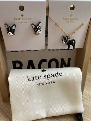 Kate Spade French Bull Dog Necklace Set for Sale in Katy, TX