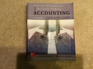 Ethical obligations and Decision making in ACCOUNTING, 4th edition for Sale in Irvine, CA