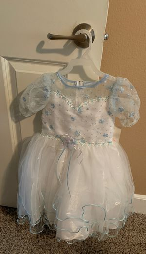 Beautiful white and blue dress size 3 for a baptismal for a wedding for Sale in Riverside, CA