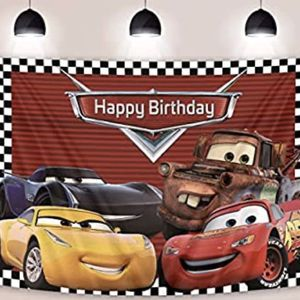 Disney Cars Lightning Mater Birthday Party Banner Backdrop - Redmond for Sale in Redmond, WA