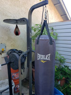 Everlast punching bag and stand for Sale in Diamond Bar, CA